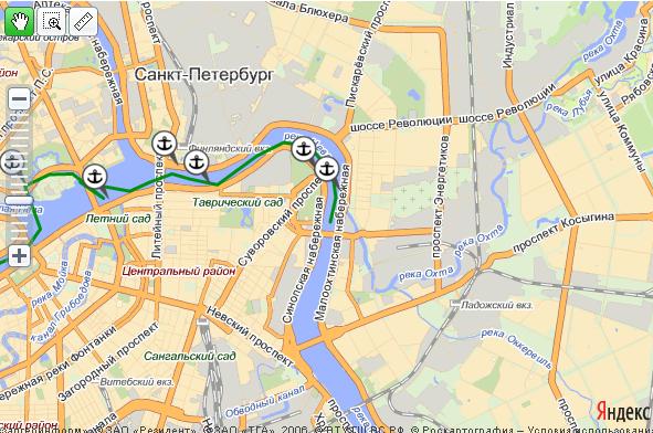 Схемы городских маршрутов