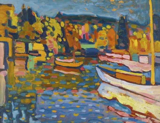 василий васильевич кандинский осенний пейзаж с лодками